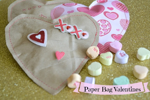 Handmade Paper Bag Valentines ((DIY))via the pickled poppy