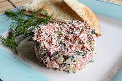 Salmon Salad This recipe is the best ever. I make my own hot-smoked ...