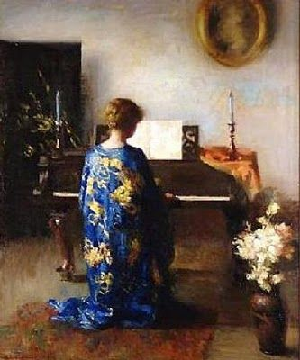 John White Alexander (American, 1856–1915): Panel for Music Room, 1894. - Google Search