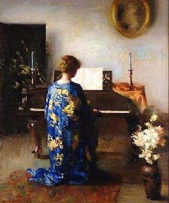 John White Alexander (American, 1856–1915): Panel for Music Room, 1894. - Google Search