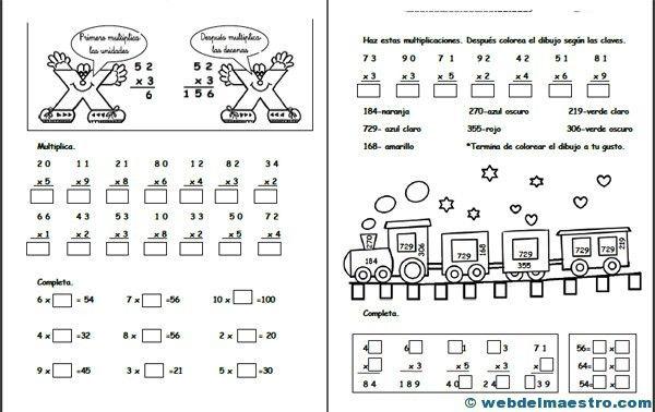 multiplicaciones 2º basico - Buscar con Google