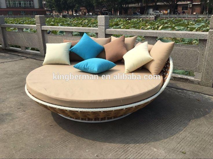 Cheap Jardín Al Aire Libre Muebles de Ratán Cama Redonda Colgando Colgante de la Rota Al Aire Libre Sofá-Cama