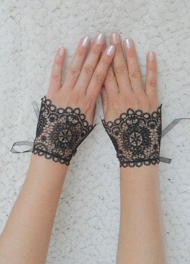 Кружевные перчатки 9