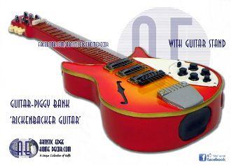 Guitar Money Bank - Rickenbacker Guitar