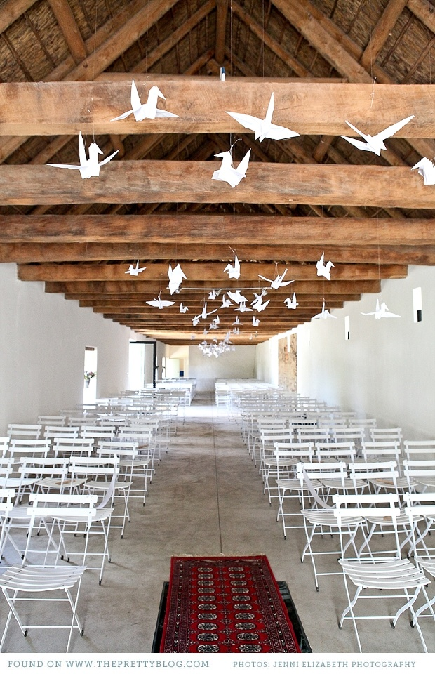 Origami decorations | Photo: Jenni Elizabeth Photography & Design