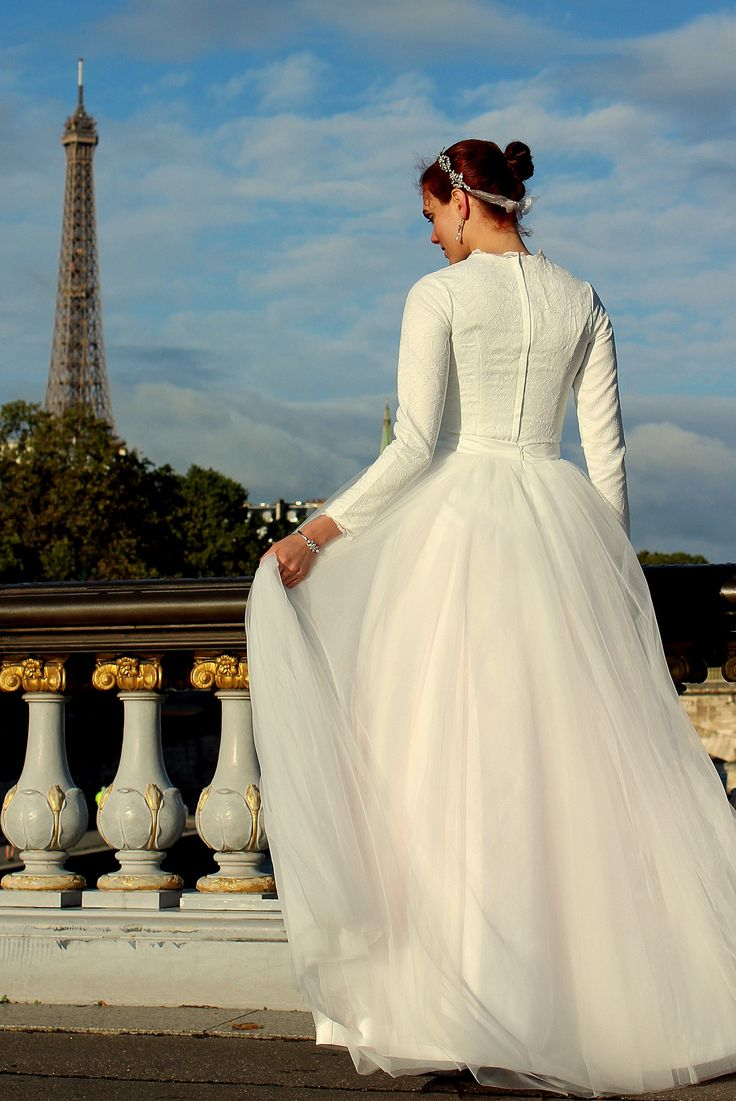 42 best Modest Wedding Dresses images on Pinterest | Modest wedding ...