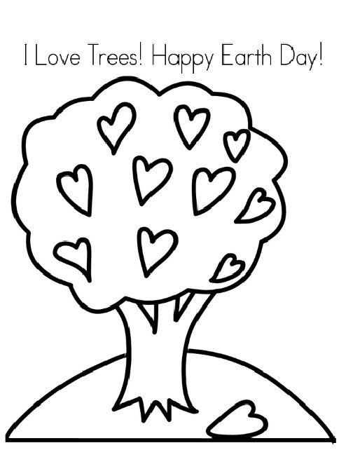 Happy Earth Day Coloring Pages For Kids Preschool And