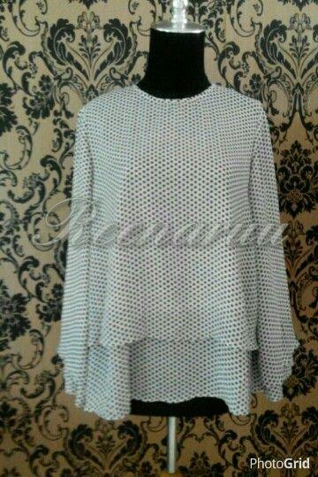 Circle chiffon blouse