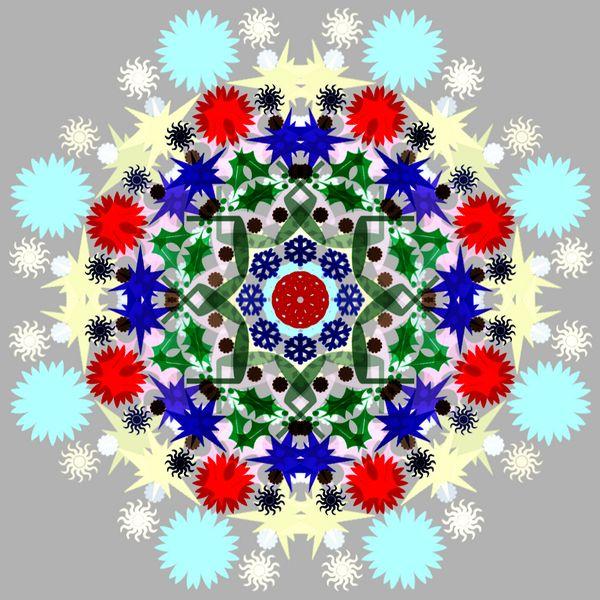 Cara membuat desain efek kaleidoskop dengan Photoshop.