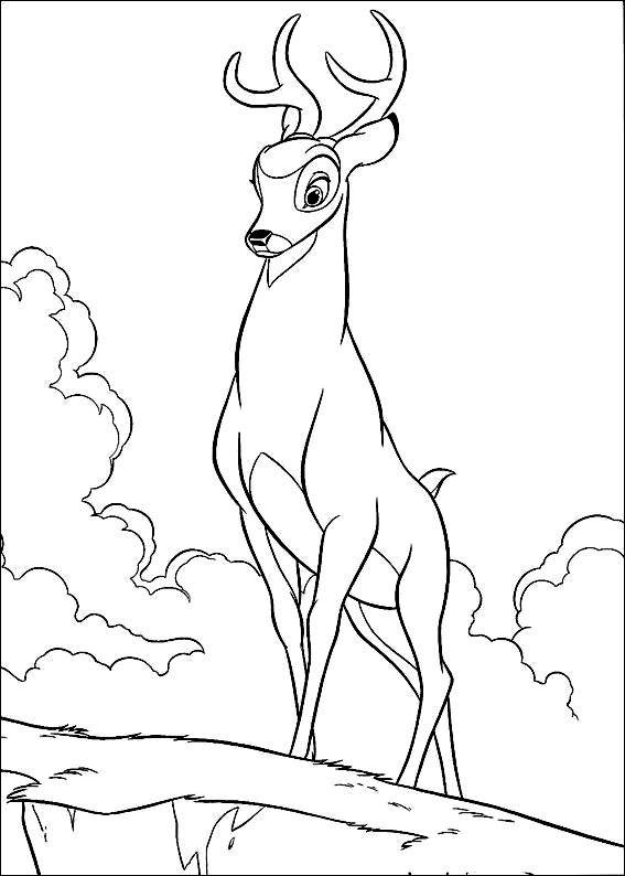 Pour Imprimer Ce Coloriage Gratuit Bambi Disney 10 Cliquez