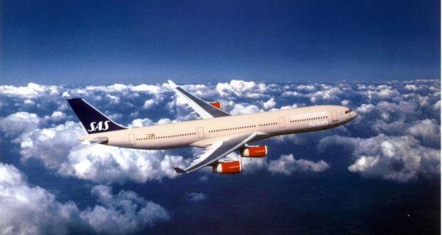 We fly SAS from Copenhagen to Dublin.