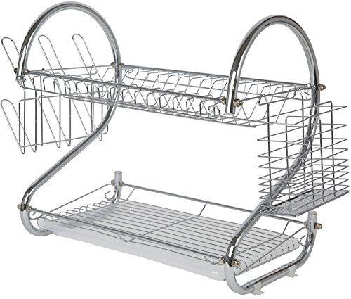 Dish Rack - Two Tier Dish Drying Rack - Stainless Steel Drying Rack Juvoice http://www.amazon.com/dp/B00PXBQXCA/ref=cm_sw_r_pi_dp_aPMYvb03YRSTD