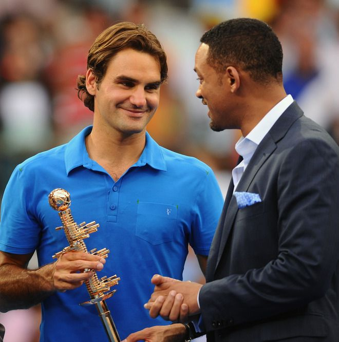 Federer and Will Smith. Madrid Open 2012