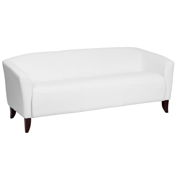 Flash Furniture Hercules Imperial Series White Leather Sofa - Sofas & Sectionals - Living Room Furniture - Furniture & Accents