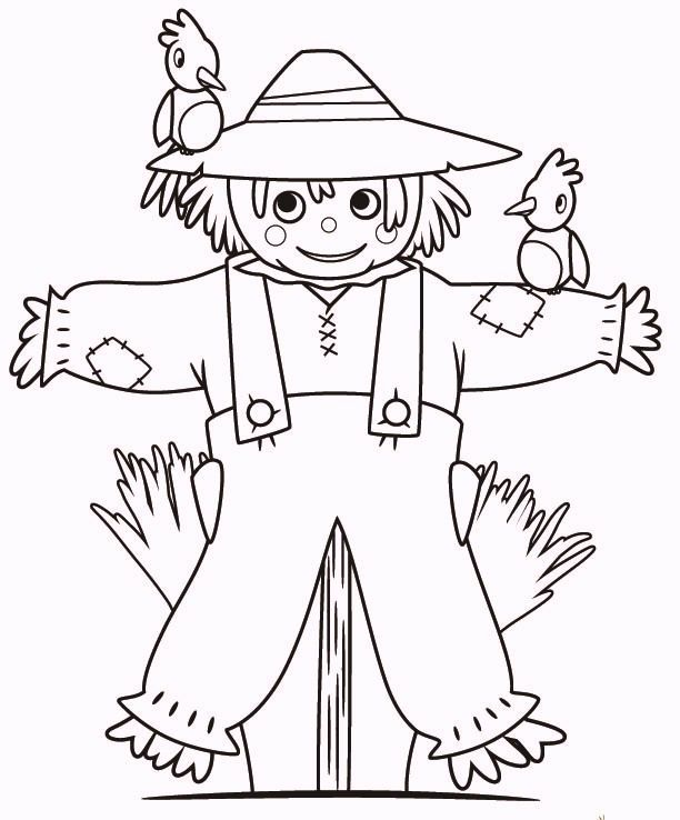 Funny Fall Scarecrow Coloring Pages Coloring Pages Fall Scarecrows Scarecrow
