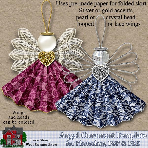 Karen Stimson--Angel Ornament Template - Click Image to Close