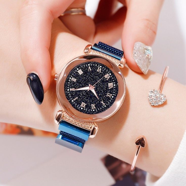 Luminous Women's Starry Sky Watches Luxury Fashion Roman Numerals Ladies Magnetic Clock 2019 Waterproof Wristwatch montre femme