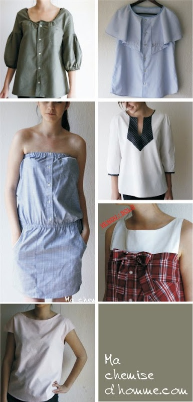 recyclage chemise d'homme