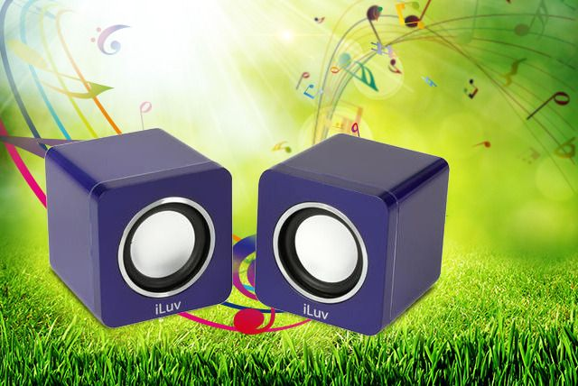 Two Portable Cube Speakers
