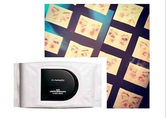 Preview: New York City Drag Artist Joey Arias Creates MAC Cosmetics Makeup Remover Wipes Art