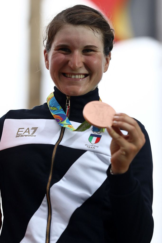 Elisa Longo Borghini Photos Photos - Bronze medalist Elisa Longo Borghini of Italy during the Women's Road Race on Day 2 of the Rio 2016 Olympic Games at Fort Copacabana on August 7, 2016 in Rio de Janeiro, Brazil. - Cycling - Road - Olympics: Day 2