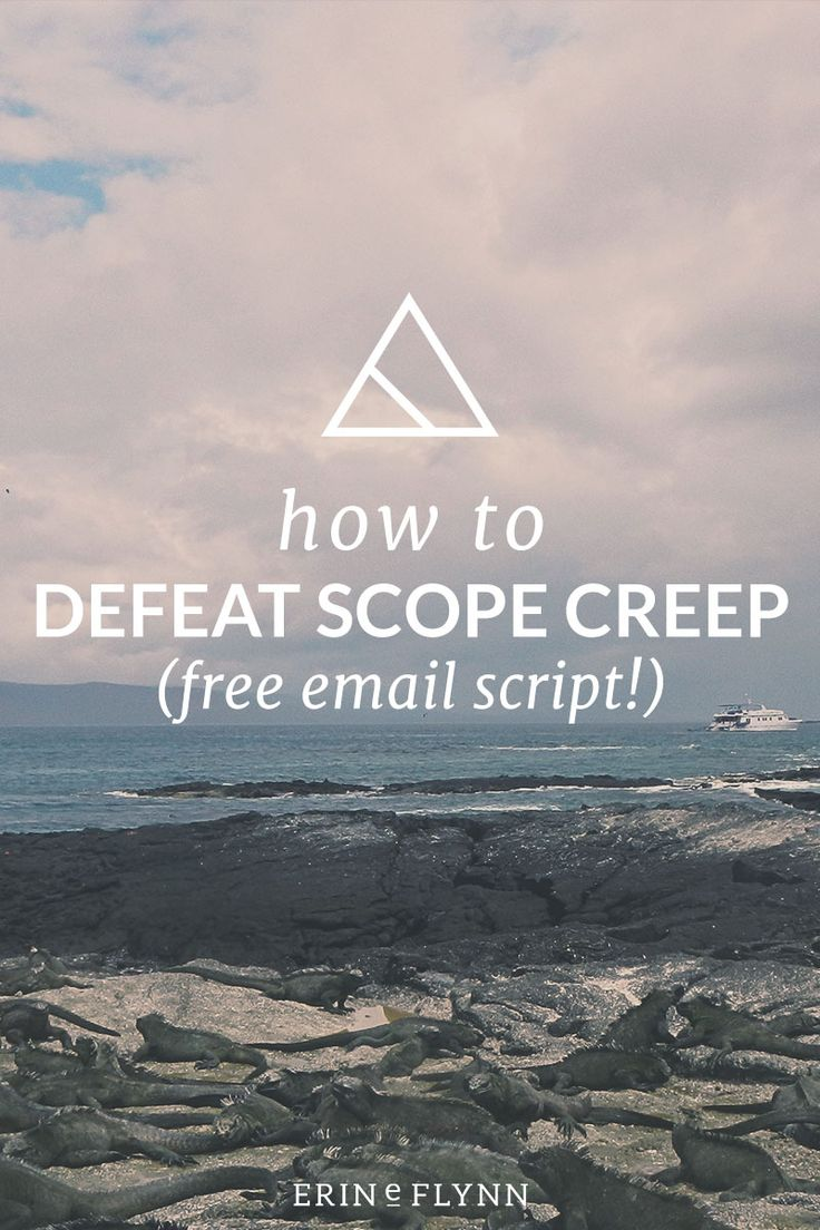You know when a client keeps asking for just a little more in a project? That, my friends, is scope creep. Here's how to defeat scope creep.