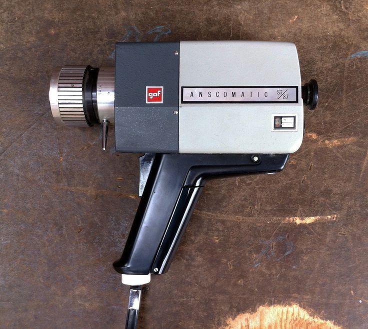 Vintage GAF Anscomatic ST/87 Super 8 Camera 8mm Film Video Camera Retro.