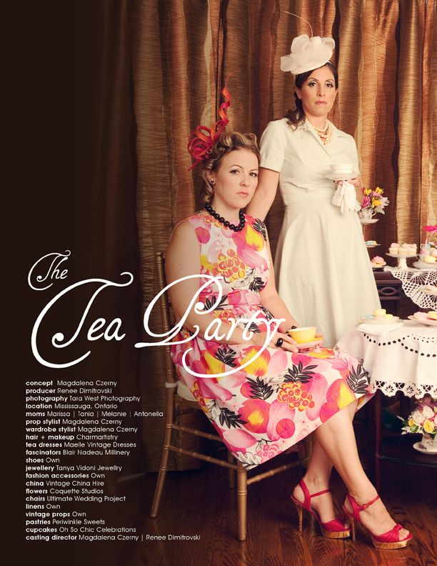 The Tea Party | Photo by Studio West http://www.photostudiowest.com/ | #tea #party #fashion #dress #fascinator