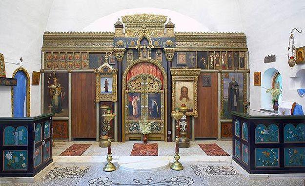Altar at the Church of the Savior, Abramtsevo.