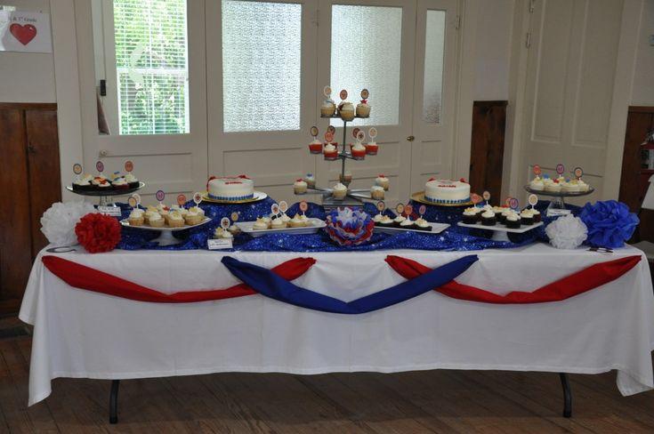 centerpieces eagle scout ceremony | Eagle Ceremony Village CupcakesVillage Cupcakes