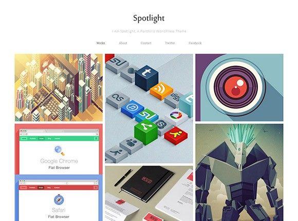Spotlight ? Free portfolio WordPress theme