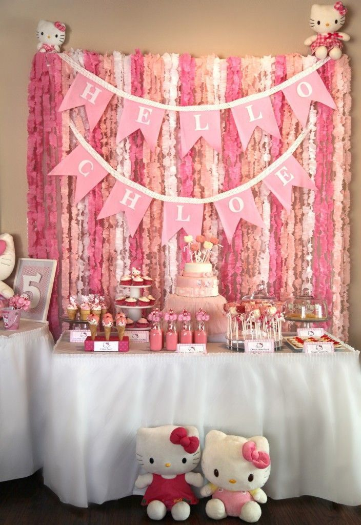 ¿Cómo decorar un baby shower de Hello Kitty? - Baby Shower Perfecto