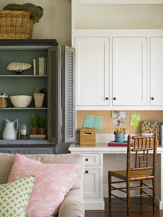 128 best images about our favorite desks on pinterest for Storage solutions living room