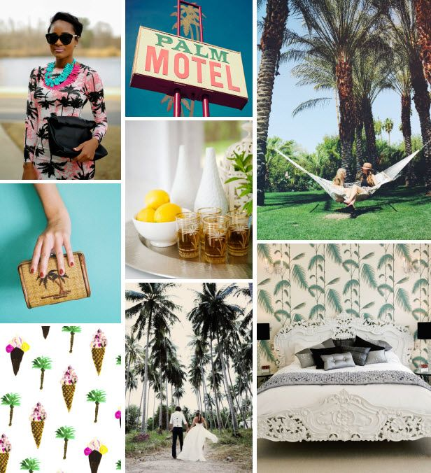 Mood Board Monday: Palm Trees (http://blog.hgtv.com/design/2014/05/12/mood-board-monday-palm-trees/?soc=pinterest): Color Inspiration, Mood Boards, Beach Living, Palm Trees, At The Beach, Moodboards, Design Blog