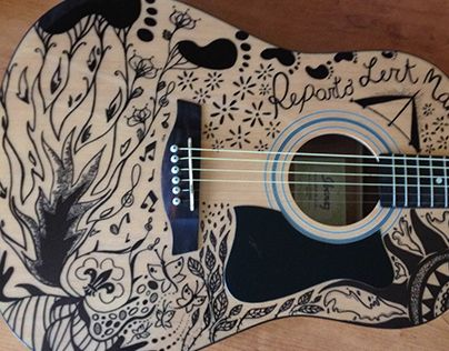 "Check out new work on my @Behance portfolio: ""Painted Guitar -scout!"" http://on.be.net/1NksuMT"