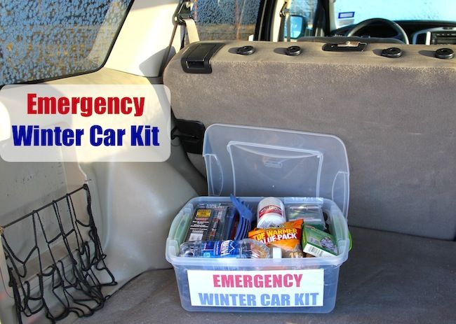 Another great DIY emergency kit for your car (under $25), especially equipped to handle anything winter has instore!