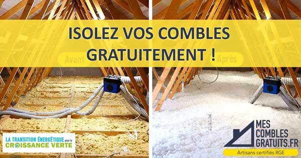 Profitez d'une Isolation GRATUITE de vos combles perdus pour 0 euro Grâce à la Loi Transition Énergétique - MesComblesGratuits.fr