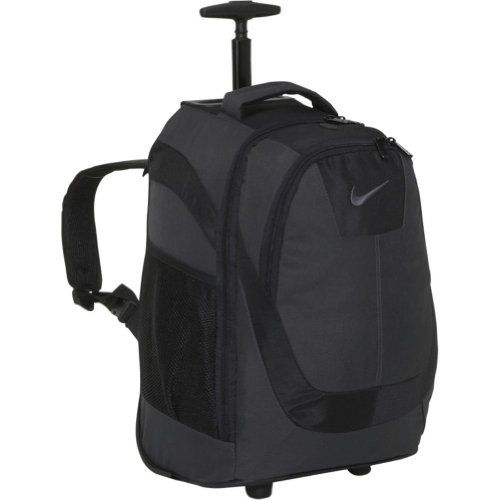 Nike Accessories Rolling Laptop Backpack (Anthracite) - Micro ripstopmicrofiber core rolling backpack with internal laptop compartment.  - http://ehowsuperstore.com/bestbrandsales/computers-accessories/nike-accessories-rolling-laptop-backpack-anthracite