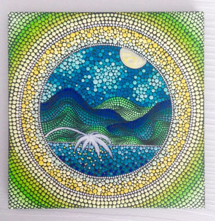 Buy Mountain Painting in Dotilism style, Mandala Painting on Canvas 17x17 cm, Acrylic painting by Mandala Art on Artfinder. Discover thousands of other original paintings, prints, sculptures and photography from independent artists.