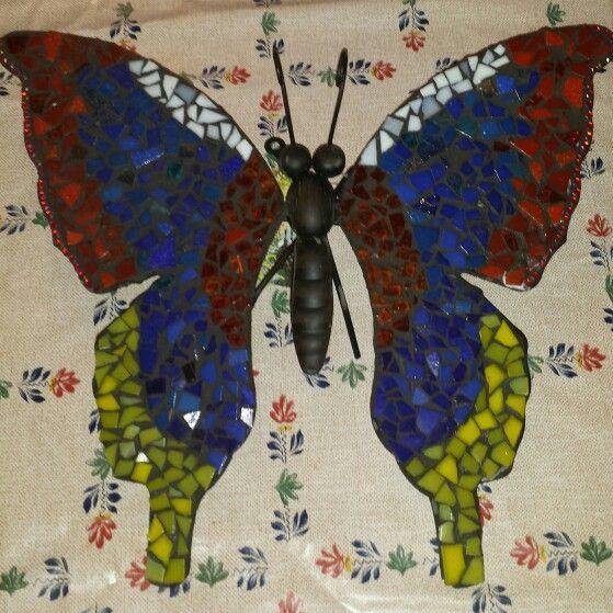 Vlinder gemaakt voor aan de schutting