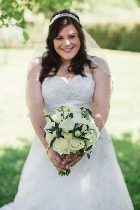 hardy white wedding flowers