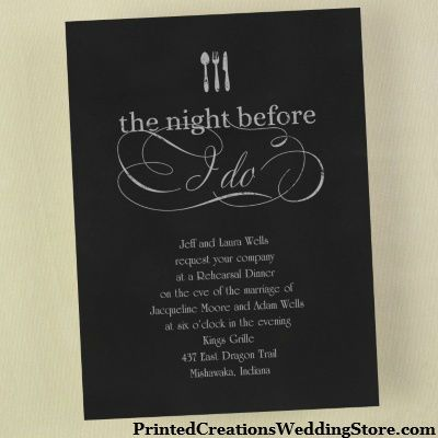 The Night Before I Do Invitation Available In Many Colors