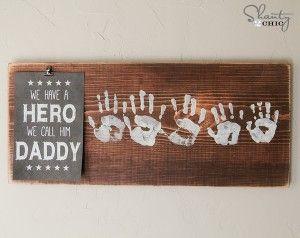 DIY Fathers Day Handprint Keepsake Gift www.247moms.com #247moms