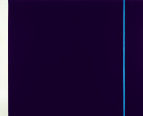 Barnett NEWMAN (American, Abstract Expressionist painter, 1905-1970): Midnight Blue, 1970 (193 x 239 cm)