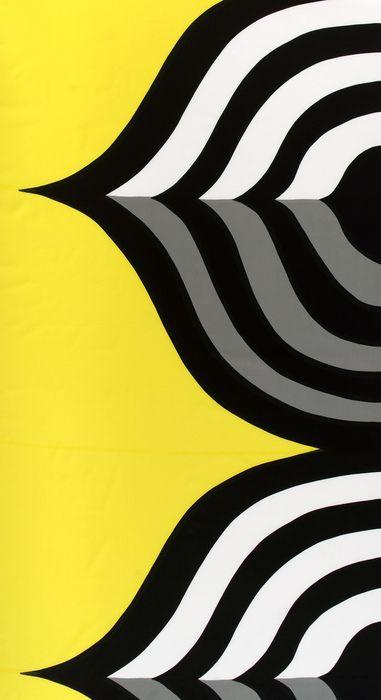 Maija Isola´s continuous fabric pattern Keisarinkruunu, 1966 by Marimekko, Finland.
