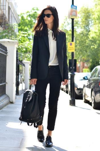 What shoes to wear with skinny ankle jeans: oxfords