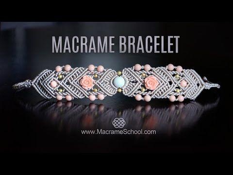 Mirrored Macramé Bracelet by Macrame School - YouTube