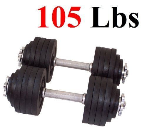 One Pair of Adjustable Dumbbells Cast Iron Total 105 Lbs (2 X 52.5 Lbs) by Star Ring, http://www.amazon.com/dp/B007WKK5HE/ref=cm_sw_r_pi_dp_6MhQrb04DRW4F