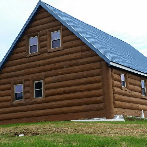Caldwell, Ohio Residence - NextGen Logs Concrete Log Siding