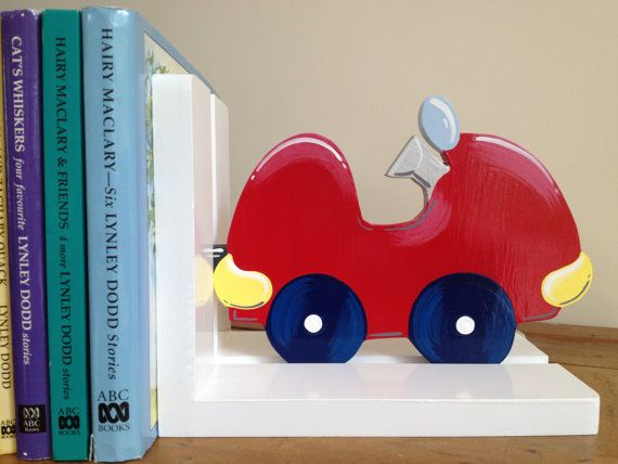 Car Bookends - Childrens Bookends, Bookends, Boys Bookends